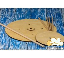 Деревянная конструкция для многоярусных тортов с дюбелями (2 яруса)