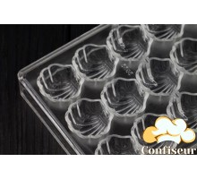 """Form of polycarbonate for chocolates """"Shell"""""""