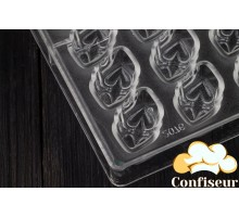 """Form of polycarbonate for chocolates """"Heart locks"""""""