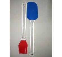 Кисть и лопатка силиконовая