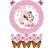 """Edible picture """"Minnie Mouse"""" -10"""