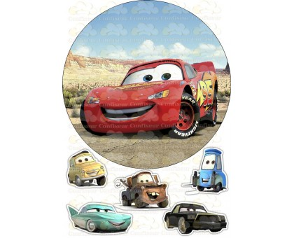 """Waffle picture """"Cars""""-16"""