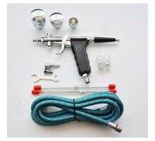 Airbrush BD116C with cone nozzle 0.3 / 0.5 / 0.8 mm with pistol-type top paint supply
