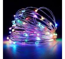 Гирлянда светящаяся разноцветная на батарейках