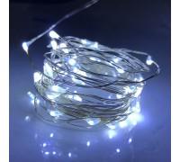 Гирлянда светящаяся белый свет на батарейках