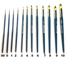 Brush FOX synthetic Round No. 10 art, Blue