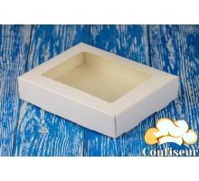 Коробка 192*148*40 с прозрачным окном белая