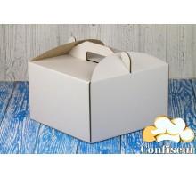 Коробка для торта 230*230*210 белая