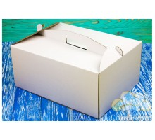 Коробка для торта 300*300*100 белая