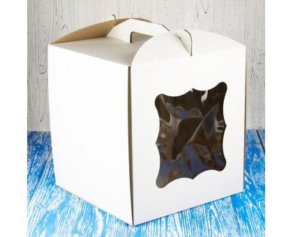 Cake box 280 * 280 * 300 with window white