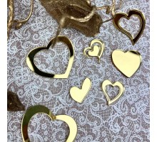 Декор акриловый сердечки (золото)