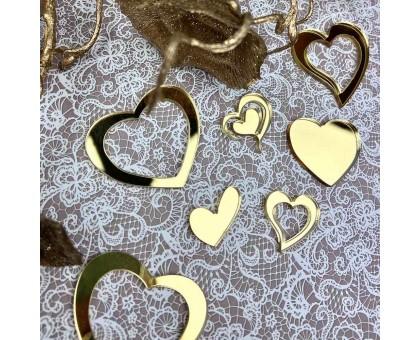 Decor acrylic hearts (gold)