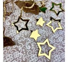 Декор акриловый звездочки (золото)
