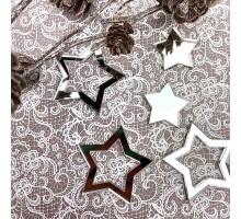 Декор акриловый звездочки (серебро)
