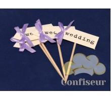 Флажок Wedding 10шт (пурпурный)