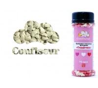 Сахарные сердечки белые 4 мм (75 грамм)