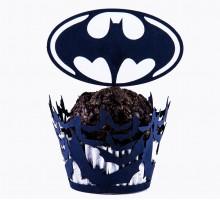 "Wrappers for cupcakes ""Batman"" 12 PCs"