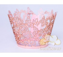 """Wrappers for cupcakes """"Butterfly"""" pink 12 PCs"""