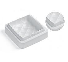 Form Silikomart silicone (160 x 160 mm, h 53 mm) Matelasse