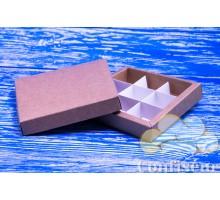 Коробка для конфет 145*145*29 крафт