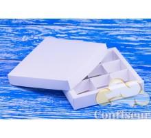 Коробка для конфет 145*145*29 белая