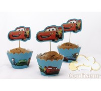 Wrappers for cupcakes Cars (12 pieces)
