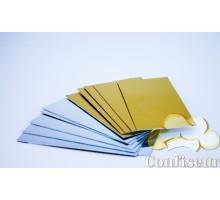 Подложка прямоугольная 6х12 см серебро/золото