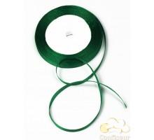 Лента атласная 5 мм, односторонняя, цвет - Зеленая