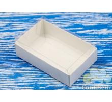 Коробка для конфет белая с окном 95*60*30