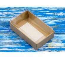 Коробка для конфет крафт с окном 95*60*30