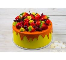 """Муляж """"Торт фруктовый с глазурью"""""""