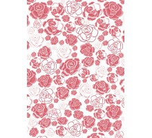 Film decal A-4 Roses 1pc