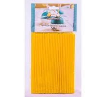 Палочки для кейк-попсов и леденцов желтые 150мм