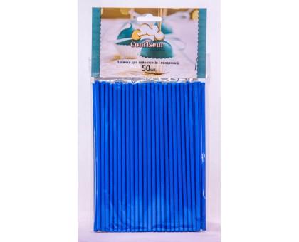 Палочки для кейк-попсов и леденцов синие 150мм