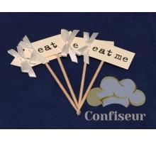 Флажок Eat Me 10шт (белый)