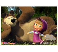 """Waffle picture """"Masha and the Bear""""-2"""