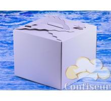 "Коробка для торта ""Бабочка"" 300*300*250 белая"
