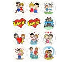 """Вафельная картинка """"Love is...""""-13"""