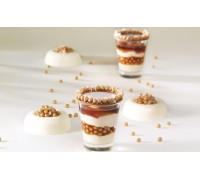 The decor of chocolates Salted Caramel - Crispearls ™ Salted Caramel