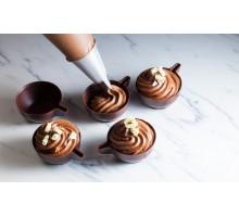 Шоколадные кофейные чашки из черного шоколада