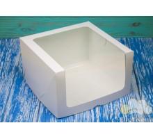 Коробка для торта 250*250*150 белая (мелованный картон)