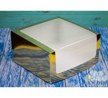 Коробка для торта 250*250*150 золото