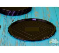 Medoro tray round black 24 cm