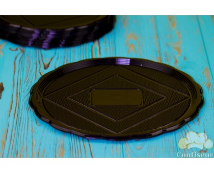 Medoro tray round black 28 cm