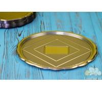 The Medoro gold tray round 24 cm