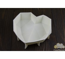 """Silicone form for Evrosert""""Heart origami""""180*155*50 mm"""