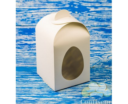 """Коробка. Модель №0042 """"Пасхальная"""". Код М0042-о2. Белая"""