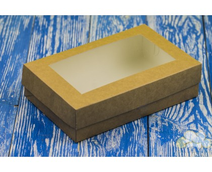 Kraft box for sweets with a window 230 * 150 * 60