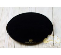 The substrate is black MDF circle 28cm