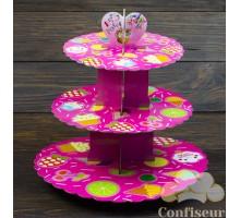 Стенд для капкейков Розовое мороженное